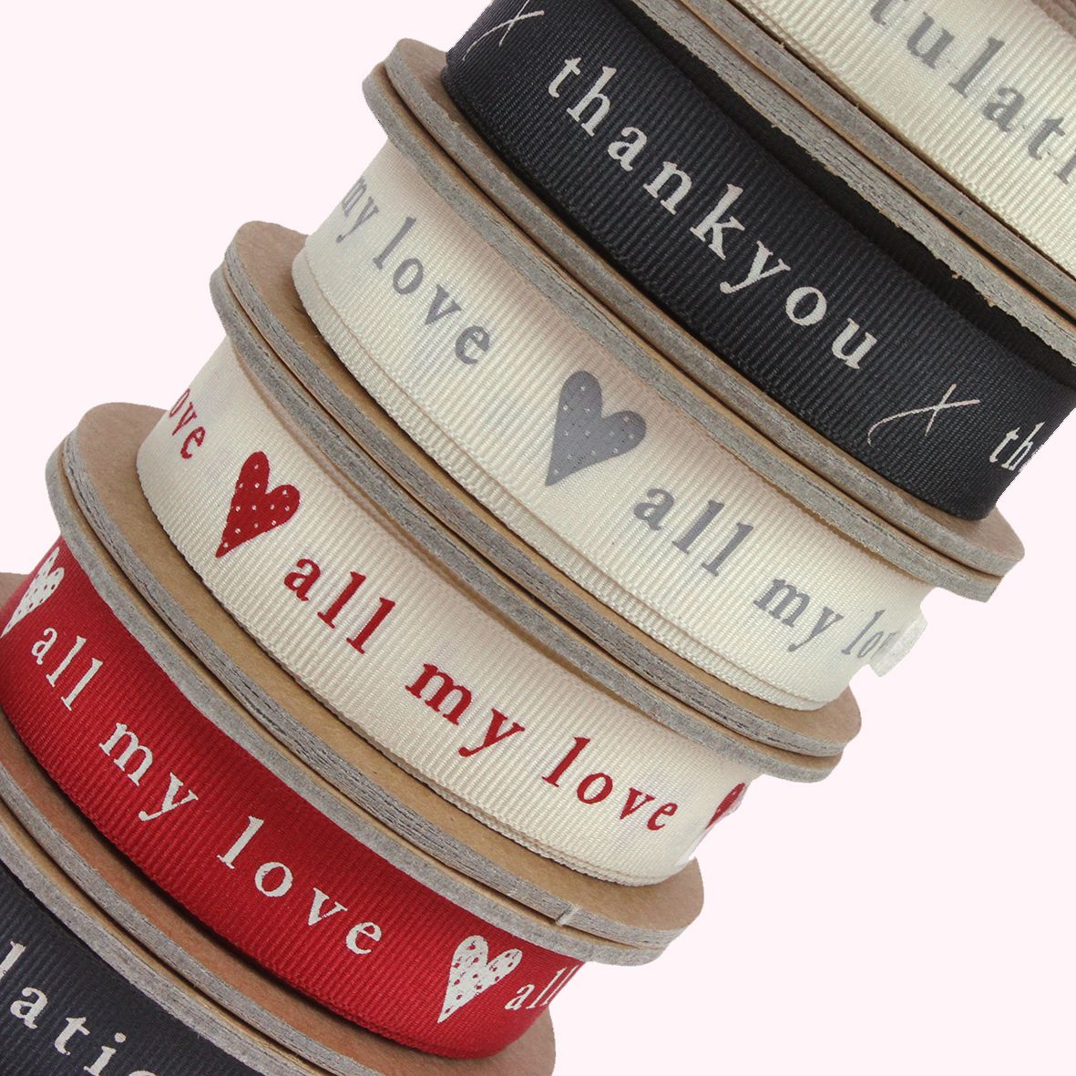 Berisfords Natural Charms Grosgrain Sentiments category image