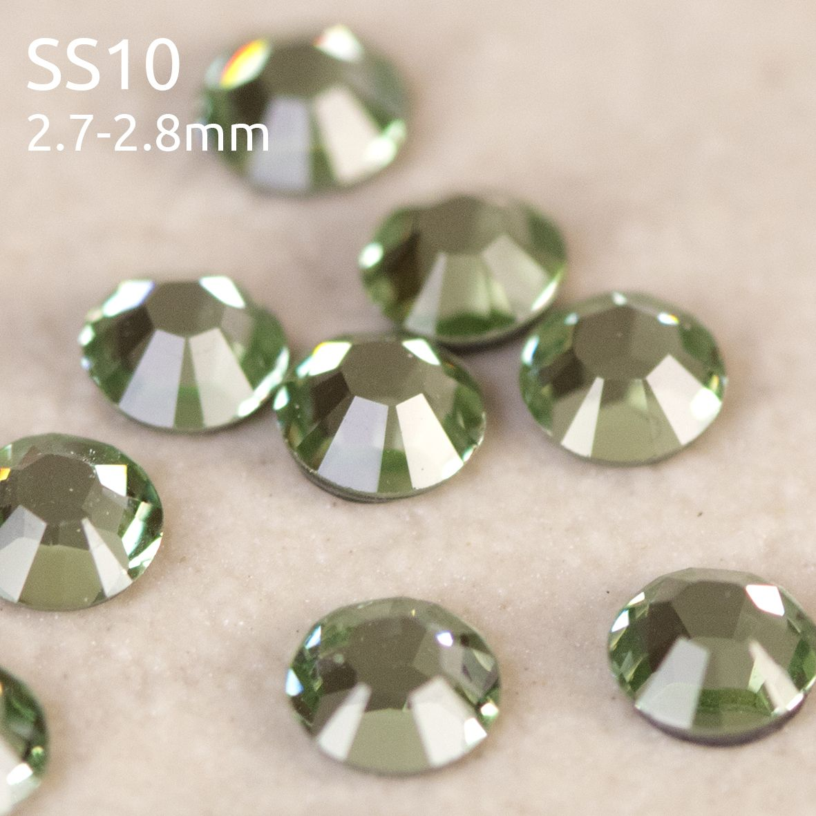 Swarovski ® Flatback Hot Fix SS10 (2.8mm) Crystals, Style 2028/2038 Xilion Rose Cut category image