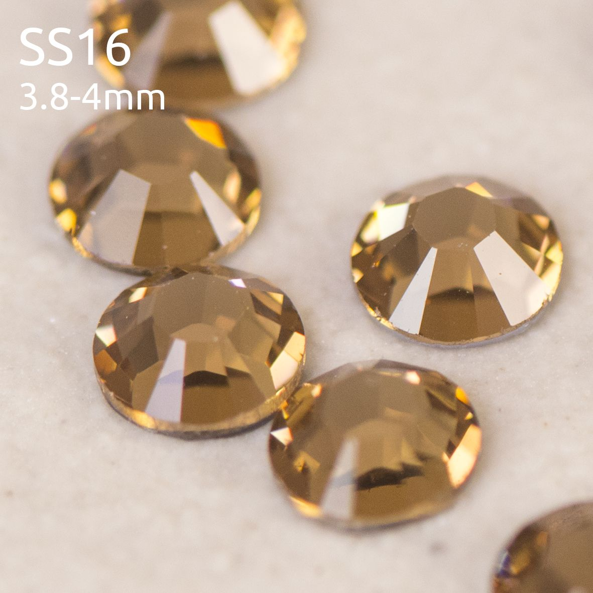 Swarovski ® Flatback Hot Fix SS16 (4mm) Crystals, Style 2028/2038 Xilion Rose Cut category image