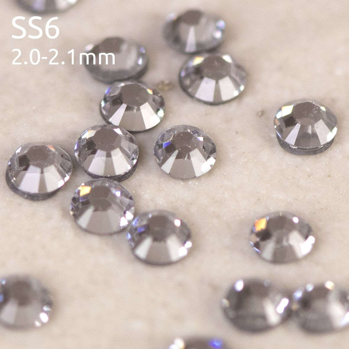 Swarovski ® Flatback Hot Fix SS6 (2mm) Crystals, Style 2028/2038 Xilion Rose Cut category image
