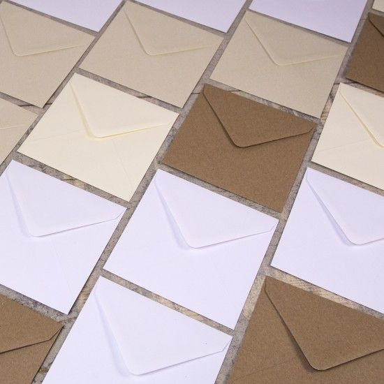 Small Square 130mm Envelopes