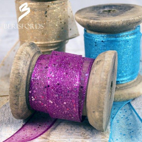 Glitter Wired Ribbon