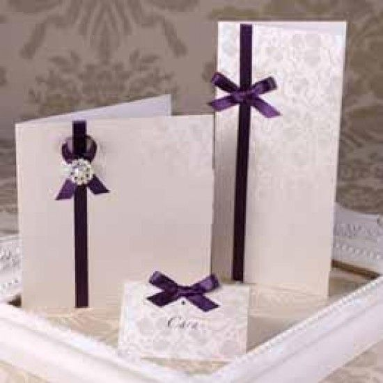 Broderie Ivory Creased Cards