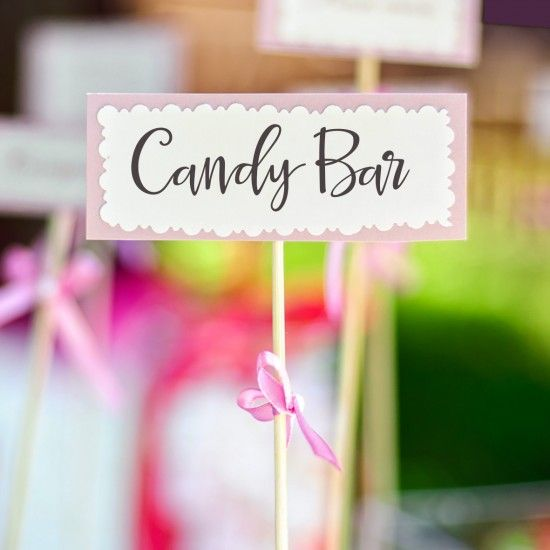 Candy Bar Kits, Signs, Labels and Stationery
