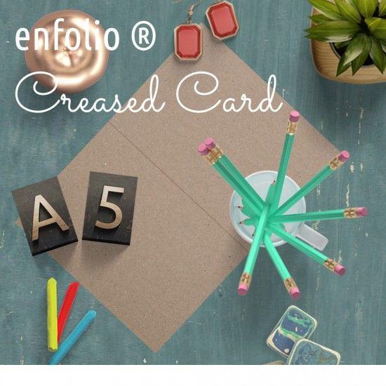 A5 Creased Card
