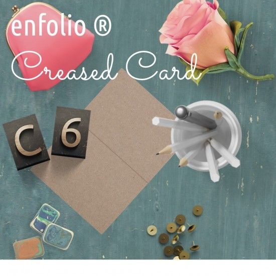 C6 Creased Card