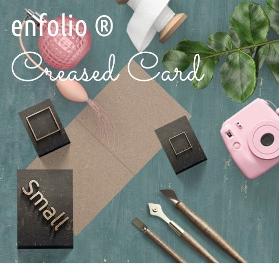 Small Square Creased Card