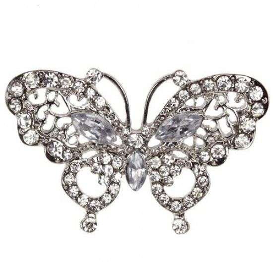 Diamante Butterfly Embellishments