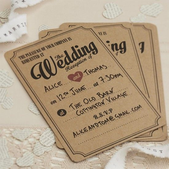 Self Assembly Wedding Stationery