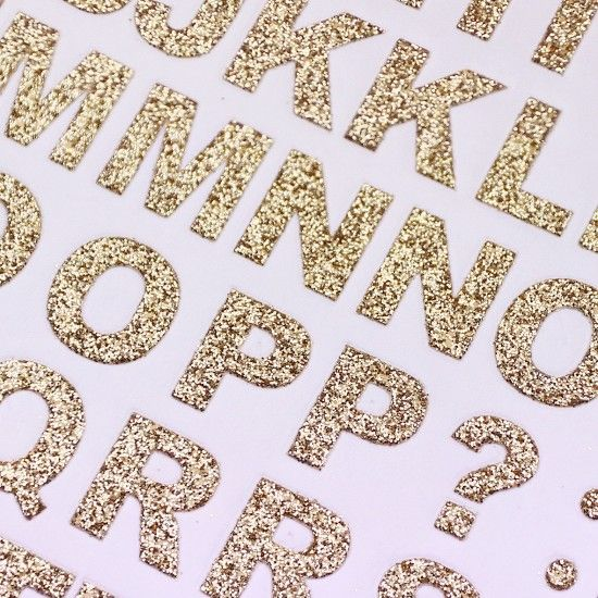 Glitter Alphabet and Numbers