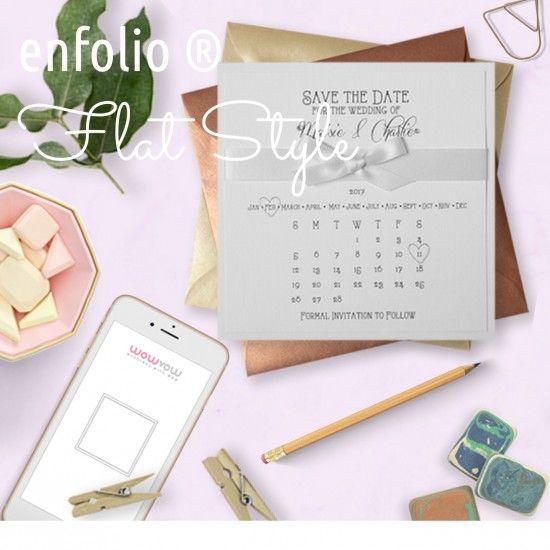 Enfolio ® Flat Style Invitations