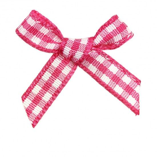 Gingham Bows 7mm