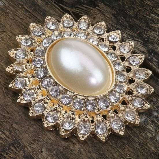 Gold Diamante and Pearl Embellishments