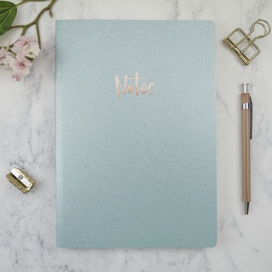 Sparkle Note Books and Pencils