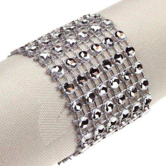 Napkin Rings, Brooches, Keys and Diamante Wraps