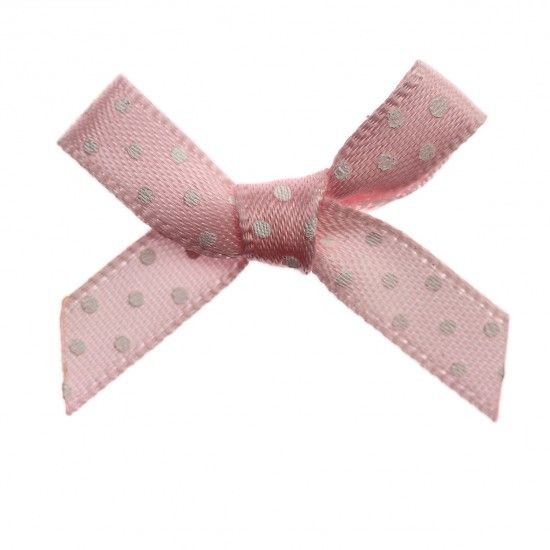 Polka Dot Ribbon Bows 7mm