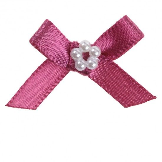 Ribbon Bow and Pearl / Diamante Cluster