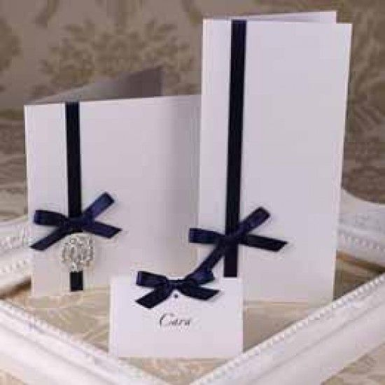 Silkweave Crystal White Creased Cards