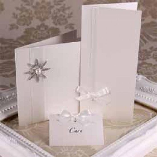 Soft Sheen Ivory Creased Cards