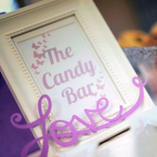 Wedding Candy Bar Frames