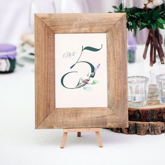 Table Numbers, Holders and Frames