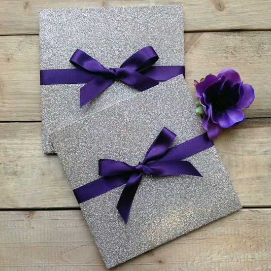 Glitter Enfolio ® Pocketfolds, Wallets and Flat Style Invitations