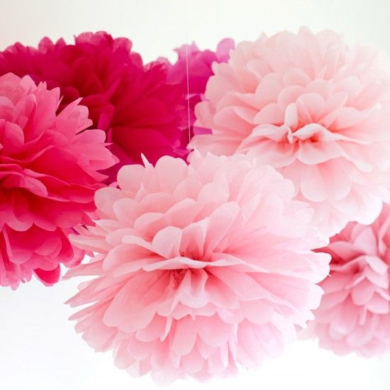 Pom Pom and Honeycomb Paper Decorations