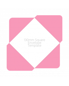 130mm Square Envelope Template