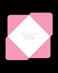 130mm Square Envelope Template