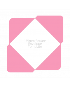 155mm Square Envelope Template