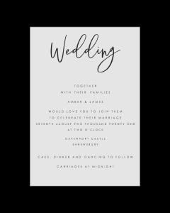 A5 Postcard Editable Wedding Invitation Template