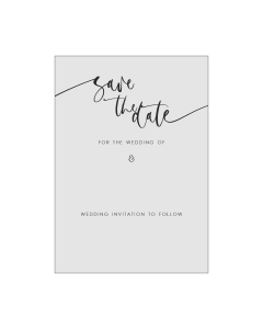 Calligraphy Editable A6 Save the Date Card Template