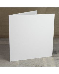 Creased Card Large Square - Antique White
