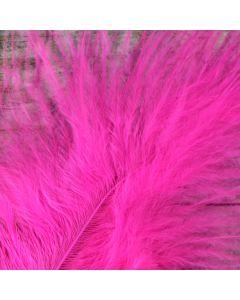 Fuchsia Shocking Pink Marabout Feathers