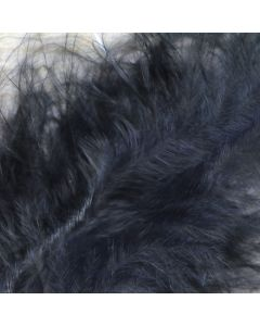 Deep Black Marabout Feathers