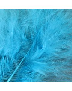Turquoise Marabout Feathers