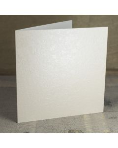 Creased Card Large Square - Applique Ivory