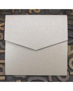 Enfolio Pocketfold (Lg Sq) - Applique Ivory - Plan View
