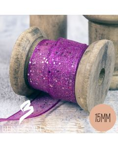 'Random Glitter' Wired Ribbon from Berisfords 15mm