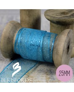 'Random Glitter' Wired Ribbon from Berisfords 25mm