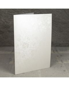Creased Card A5 - Broderie Ivory