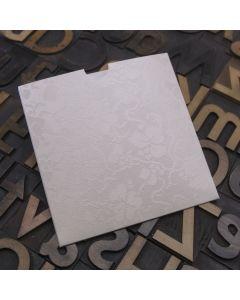 Enfolio Wallet 125mm Sq - Broderie Ivory