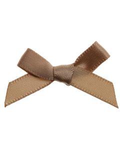 Coffee Ribbon Bows 7mm