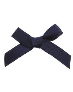 Navy Ribbon Bows 7mm