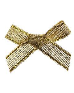 Gold Lurex Ribbon Bows 7mm