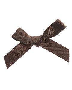 Chocolate Ribbon Bows 7mm
