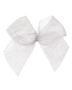 White Organza Ribbon Bow