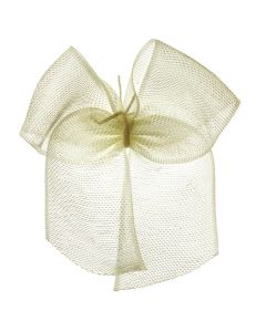 Cream Organza Ribbon Bow