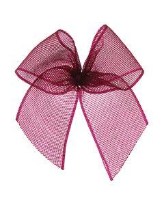 Wine Ribbon Organza Bow