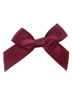 Wine Ribbon Bows 15mm